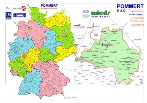 Karte des Einzugsgebiet