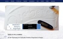 Homepage der Diabetiker-Initiative Siegerland von POMMERT H&D erstellt