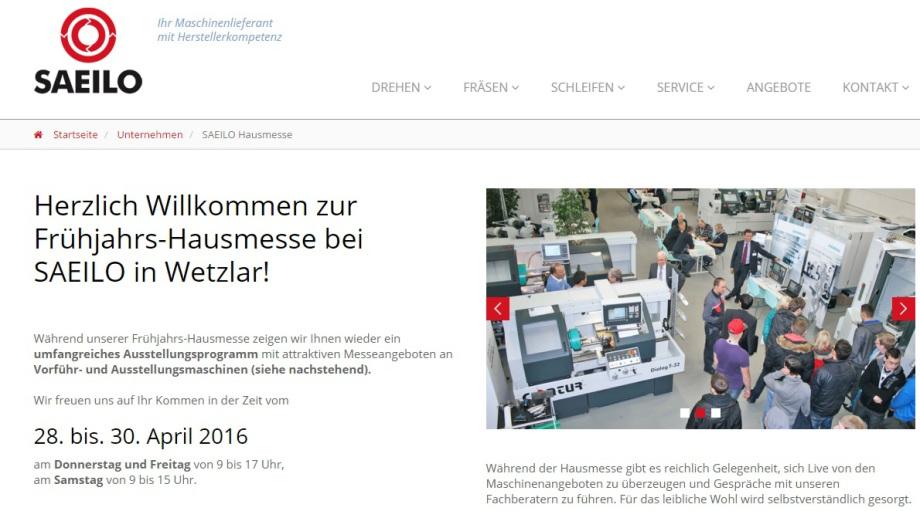 Drehen, Fräsen, Schleifen - Hausmesse bei Saeilo in Wetzlar, mit Holger Pommert