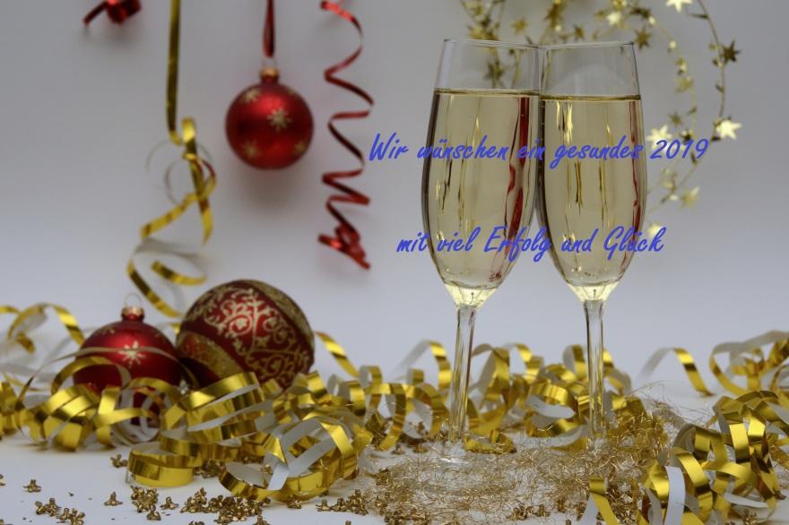 Wir wünschen alles Gute für 2019