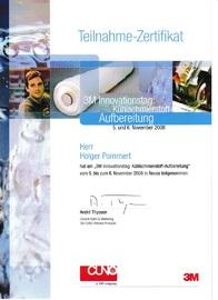 Zertifikat 3M KSM-Aufbereitung